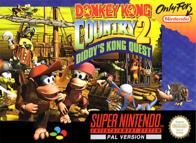 Carátula del juego Donkey Kong Country 2 - Diddy Kong's Quest