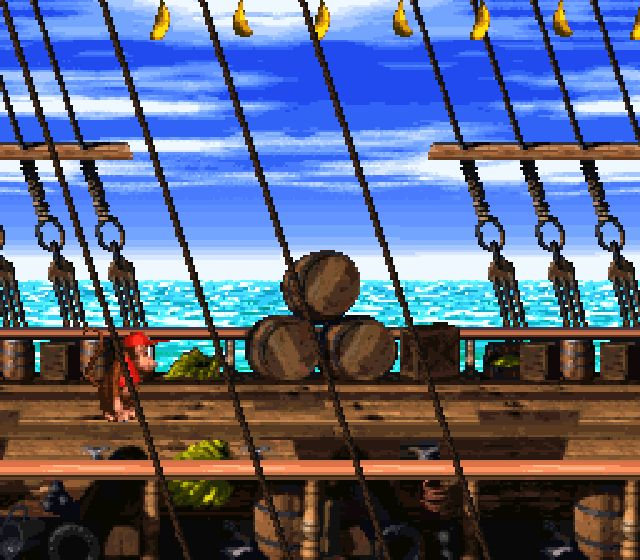 Pantallazo del juego online Donkey Kong Country 2 - Diddy Kong's Quest
