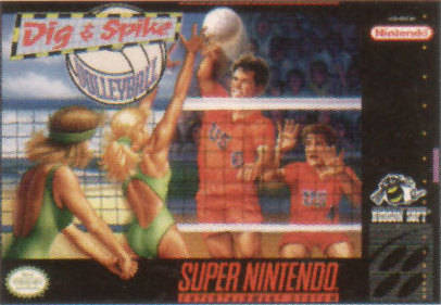 Carátula del juego Dig & Spike Volleyball (Snes)