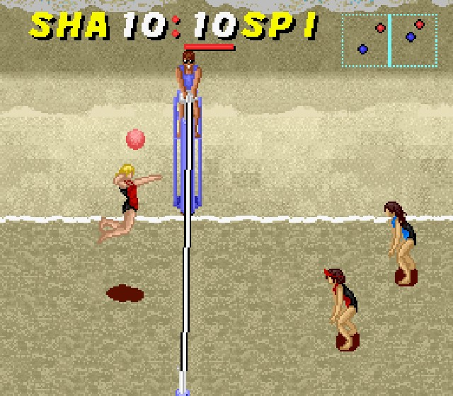 Pantallazo del juego online Dig & Spike Volleyball (Snes)