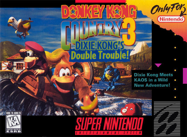 Carátula del juego Donkey Kong Country 3 Dixie Kong's Double Trouble (Snes)