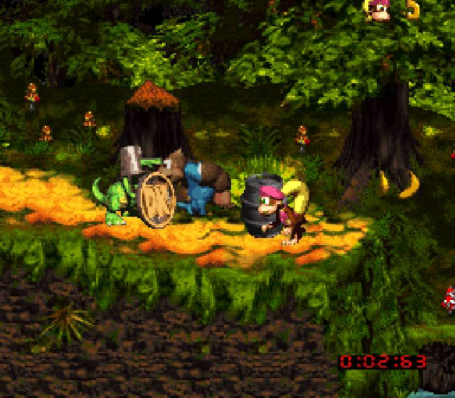 Pantallazo del juego online Donkey Kong Country 3 Dixie Kong's Double Trouble (Snes)