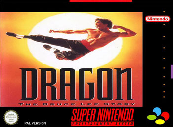 Carátula del juego Dragon - The Bruce Lee Story (Snes)