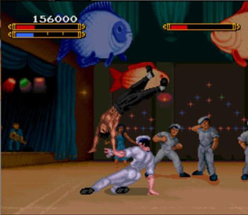 Pantallazo del juego online Dragon - The Bruce Lee Story (Snes)