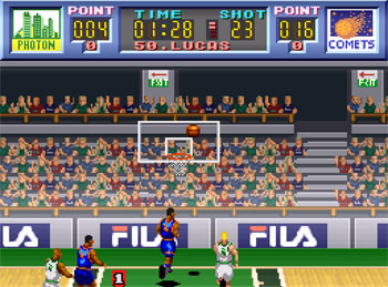 Pantallazo del juego online Dream Basketball Dunk & Hoop (SNES)