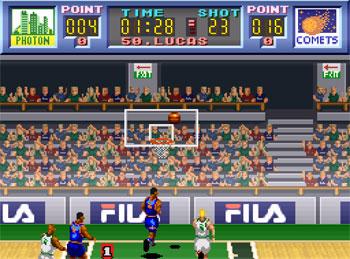 Pantallazo del juego online Dream Basketball Dunk & Hoop (SNES)