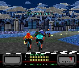 Pantallazo del juego online Exertainment Mountain Bike Rally (Snes)