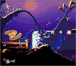 Pantallazo del juego online Earthworm Jim 2 (Snes)