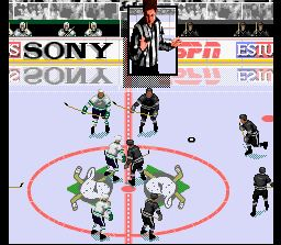 Pantallazo del juego online ESPN National Hockey Night (Snes)