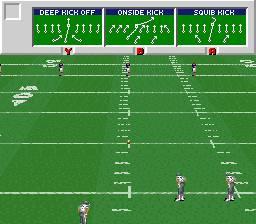 Pantallazo del juego online ESPN Sunday Night NFL (Snes)