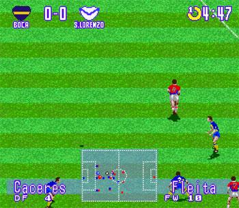 Pantallazo del juego online Futbol Argentino 96 (Snes)