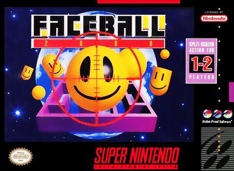 Carátula del juego Faceball 2000 (Snes)