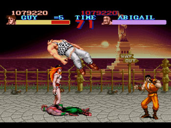 Pantallazo del juego online Final Fight Guy (Snes)