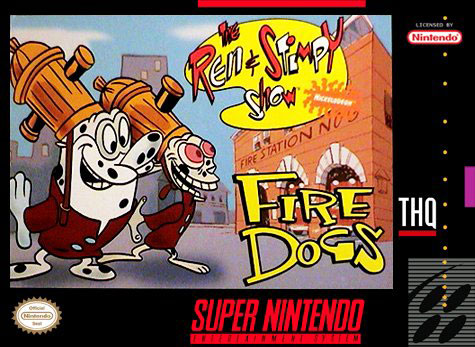 Carátula del juego The Ren & Stimpy Show Fire Dogs (Snes)