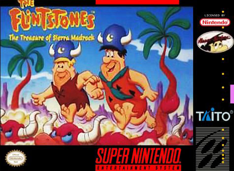 Carátula del juego The Flintstones - Treasure of the Sierra Madrock (Snes)