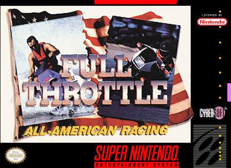 Carátula del juego Full Throttle Racing (Snes)