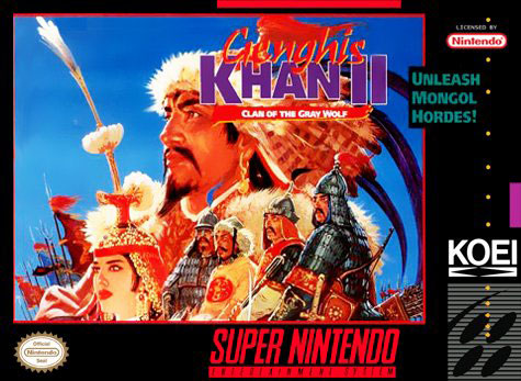 Carátula del juego Genghis Khan II - Clan of the Gray Wolf (Snes)