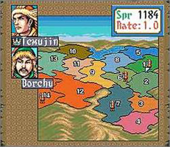 Pantallazo del juego online Genghis Khan II - Clan of the Gray Wolf (Snes)