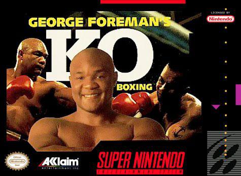 Carátula del juego George Foreman's KO Boxing (Snes)