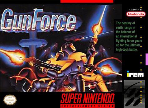 Carátula del juego GunForce (Snes)