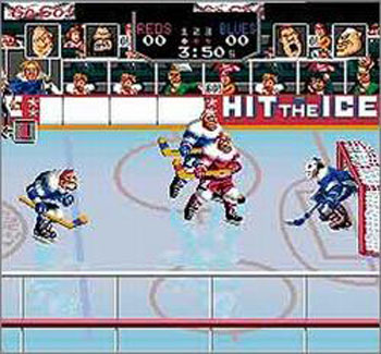 Pantallazo del juego online Hit the Ice (Snes)