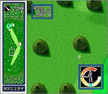 Pantallazo del juego online HAL's Hole in One Golf (Snes)