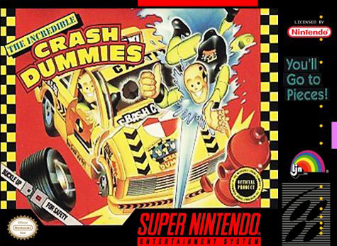 Carátula del juego The Incredible Crash Dummies (Snes)