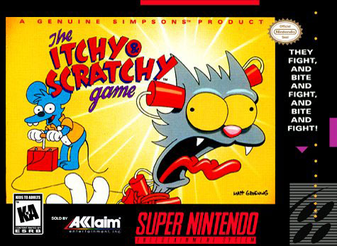 Carátula del juego The Itchy & Scratchy Game (Snes)