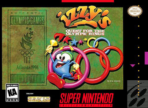 Carátula del juego Izzy's Quest For The Olympic Rings (Snes)