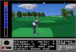 Pantallazo del juego online Jack Nicklaus Golf (Snes)