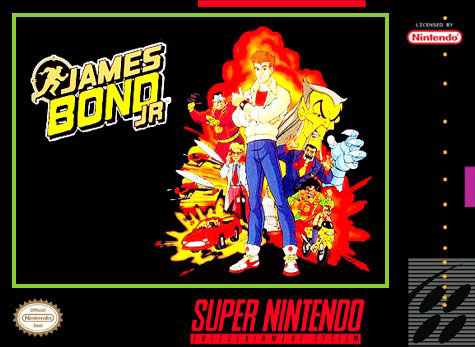 Carátula del juego James Bond Jr (Snes)