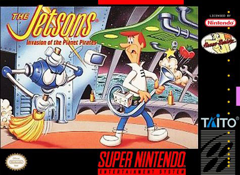 Carátula del juego The Jetsons - Invasion of the Planet Pirates (Snes)
