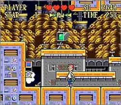 Pantallazo del juego online The Jetsons - Invasion of the Planet Pirates (Snes)