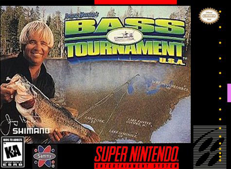 Carátula del juego Jimmy Houston's Bass Tournament USA (Snes)