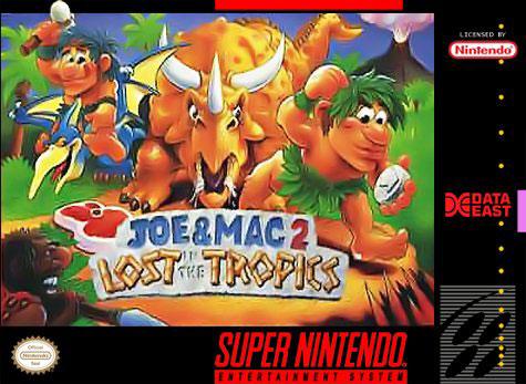 Carátula del juego Joe & Mac 2 - Lost in the Tropics (Snes)