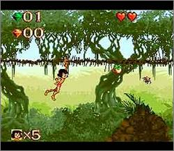 Pantallazo del juego online Disney's The Jungle Book (Snes)