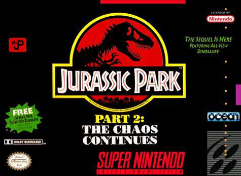 Carátula del juego Jurassic Park Part 2 - The Chaos Continues (Snes)