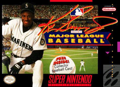 Carátula del juego Ken Griffey Jr Presents Major League Baseball (Snes)