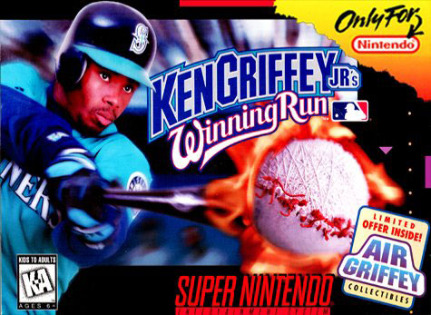 Carátula del juego Ken Griffey Jr's Winning Run (Snes)