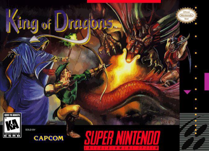 Carátula del juego King of Dragons (Snes)