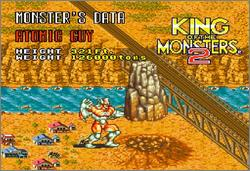 Pantallazo del juego online King of the Monsters 2 (Snes)