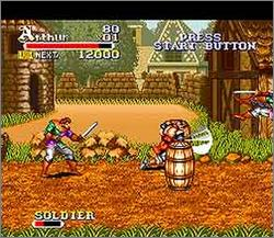 Pantallazo del juego online Knights of the Round (Snes)