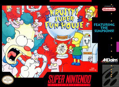 Carátula del juego Krusty's Super Fun House (Snes)