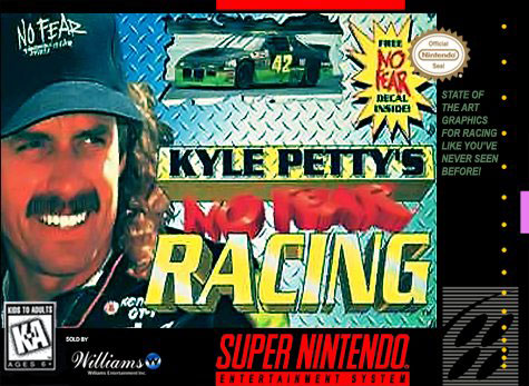 Carátula del juego Kyle Petty's No Fear Racing (Snes)