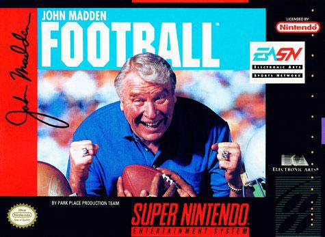 Carátula del juego Madden NFL Football (Snes)