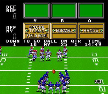 Pantallazo del juego online Madden NFL Football (Snes)
