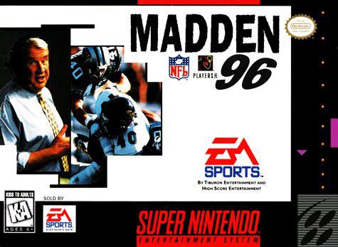 Carátula del juego Madden NFL 96 (Snes)