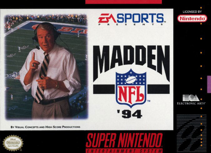 Carátula del juego Madden NFL '94 (Snes)