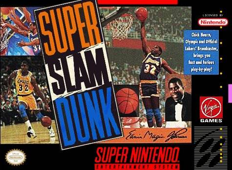 Car  225 tula del juego Magic Johnson s Super Slam Dunk  Snes Magic Johnson Slam Dunk