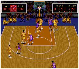 Pantallazo del juego online Magic Johnson s Super Slam Dunk  Snes Magic Johnson Slam Dunk